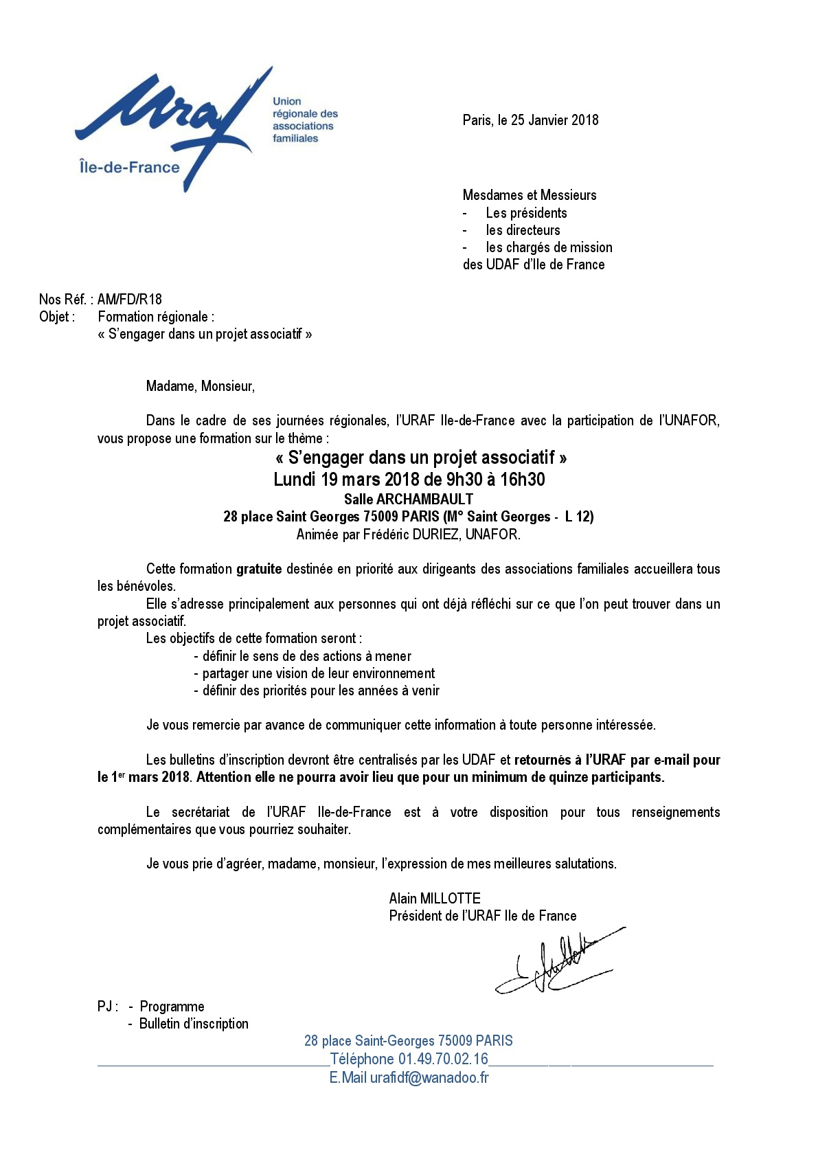 19 Mars 2018 Formation Uraf S Engager Dans Un Projet Associatif